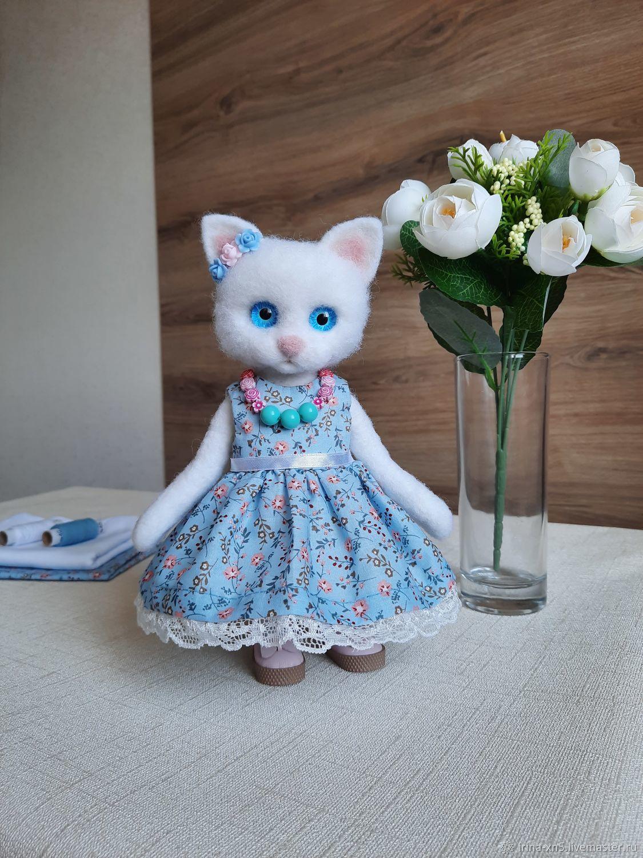 Интерьерная кукла: Кошечка, Войлочная игрушка, Харьков,  Фото №1