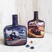Сувениры и подарки handmade. Livemaster - original item Bottle Locomotive. Handmade.