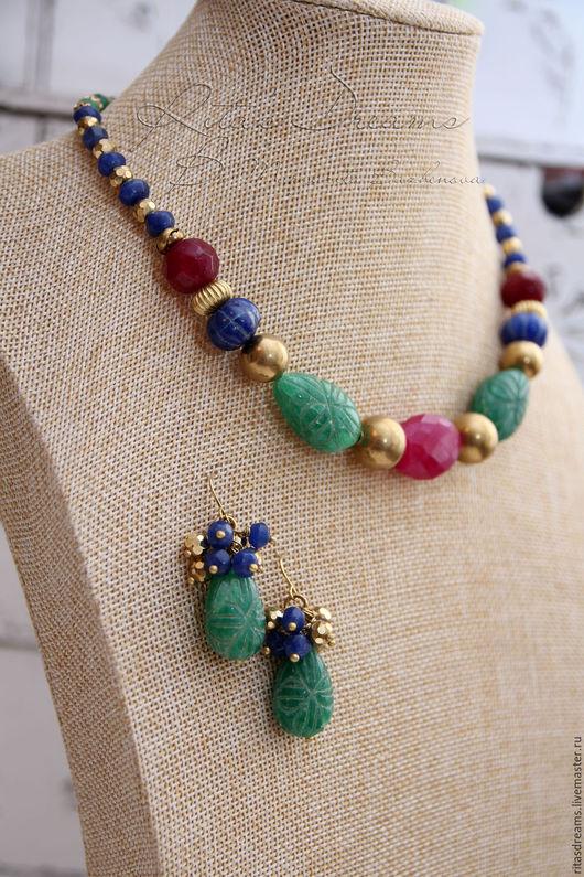 бусы изумруд рубин сапфир, изумрудные серьги изумруд, серьги с изумрудами индия, бусы в винтажном стиле, бусы в этностиле купить, серьги с каплями зеленые, индийский стиль бусы