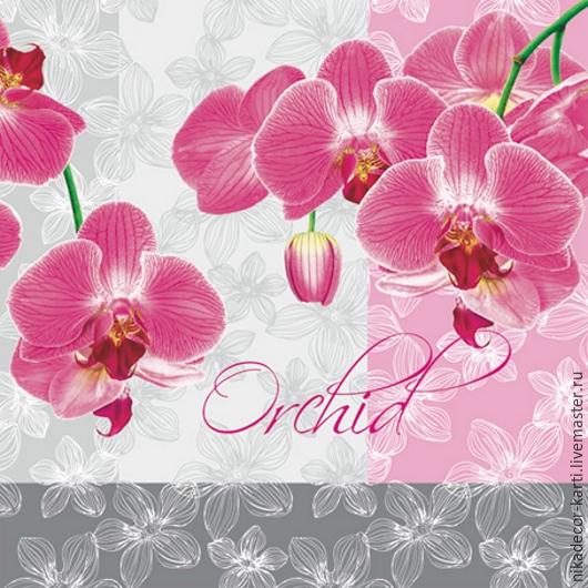 Декупаж и роспись ручной работы. Ярмарка Мастеров - ручная работа. Купить Орхидея (SLOG010001) - салфетка для декупажа. Handmade. Разноцветный, Декупаж