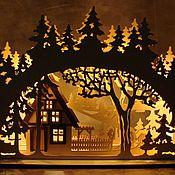 Ночники ручной работы. Ярмарка Мастеров - ручная работа Ночники: Новогодний светильник - ночник.. Handmade.