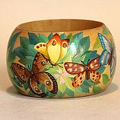"""Украшения ручной работы. Ярмарка Мастеров - ручная работа браслет """"Бабочки"""". Handmade."""