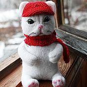"""Куклы и игрушки ручной работы. Ярмарка Мастеров - ручная работа Войлочная игрушка """"Кот Снежок"""". Handmade."""