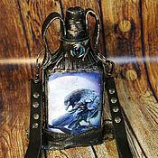 "Сувениры и подарки handmade. Livemaster - original item Фляжка ""Ворон"" (2). Handmade."