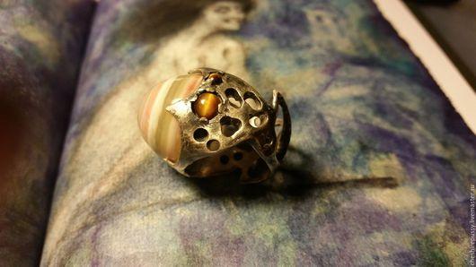 Кольца ручной работы. Ярмарка Мастеров - ручная работа. Купить Галактическое око. Handmade. Рыжий, большое кольцо