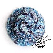 Украшения ручной работы. Ярмарка Мастеров - ручная работа Брошь-цветок вязаная с бисером. Handmade.