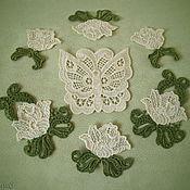 Applications handmade. Livemaster - original item Embroidery and applique textured rose two tone sew. Handmade.