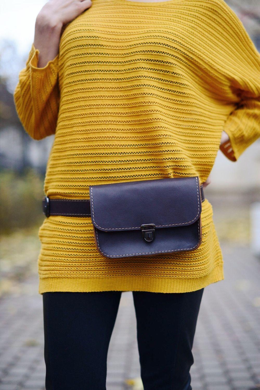 Leather waist bag Minimal, Waist Bag, St. Petersburg,  Фото №1