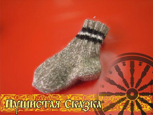 Носки, Чулки ручной работы. Ярмарка Мастеров - ручная работа. Купить Детские носочки из пуха енота 14 см. Handmade.