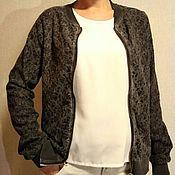 Винтажная одежда ручной работы. Ярмарка Мастеров - ручная работа Бомбер, кружево, кофта, куртка на молнии. Handmade.
