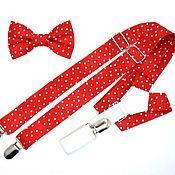 Аксессуары handmade. Livemaster - original item Set bow tie and braces