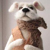 Подарки к праздникам ручной работы. Ярмарка Мастеров - ручная работа Пёсик.Игрушка из шерсти. Handmade.