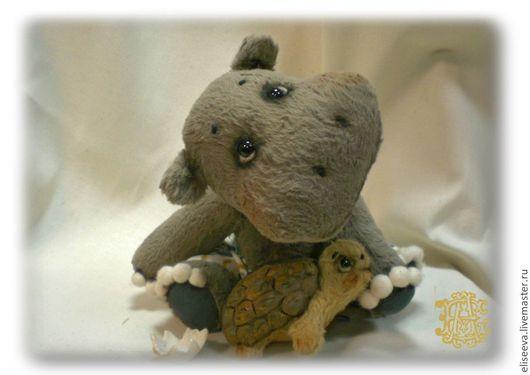Мишки Тедди ручной работы. Ярмарка Мастеров - ручная работа. Купить Гиппопотам и черепаха. Handmade. Серый, друзья, шплинты