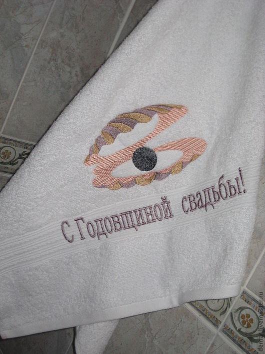 """Ванная комната ручной работы. Ярмарка Мастеров - ручная работа. Купить Полотенце """" Ракушка с жемчугом"""". Handmade. Полотенце, ракушка"""