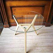 Столы ручной работы. Ярмарка Мастеров - ручная работа Круглый стеклянный стол. Handmade.