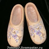 """Обувь ручной работы. Ярмарка Мастеров - ручная работа Тапочки """"Цветочные -2"""". Handmade."""
