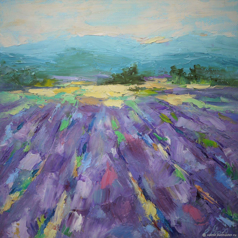 Картина маслом «Лавандовые поля», Картины, Бронницы,  Фото №1