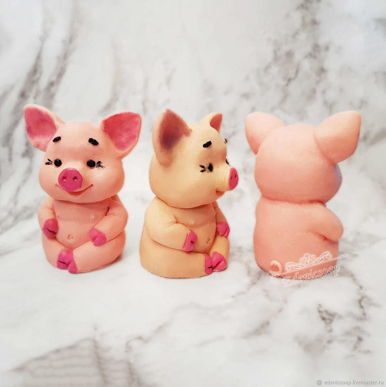Soap 'pig Bonya and company' handmade pig, Soap, Moscow,  Фото №1