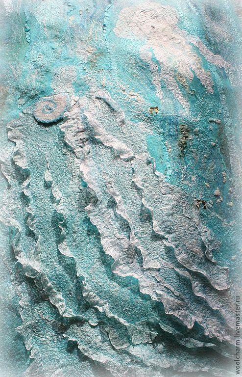 Комплекты аксессуаров ручной работы. Ярмарка Мастеров - ручная работа. Купить Комплект валяный  Поцелуй морских волн (перчатки+палантин). Handmade.