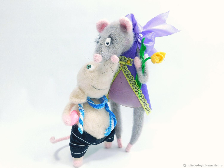 Интерьерная игрушка, влюбленная пара мышек, Подарки, Екатеринбург,  Фото №1