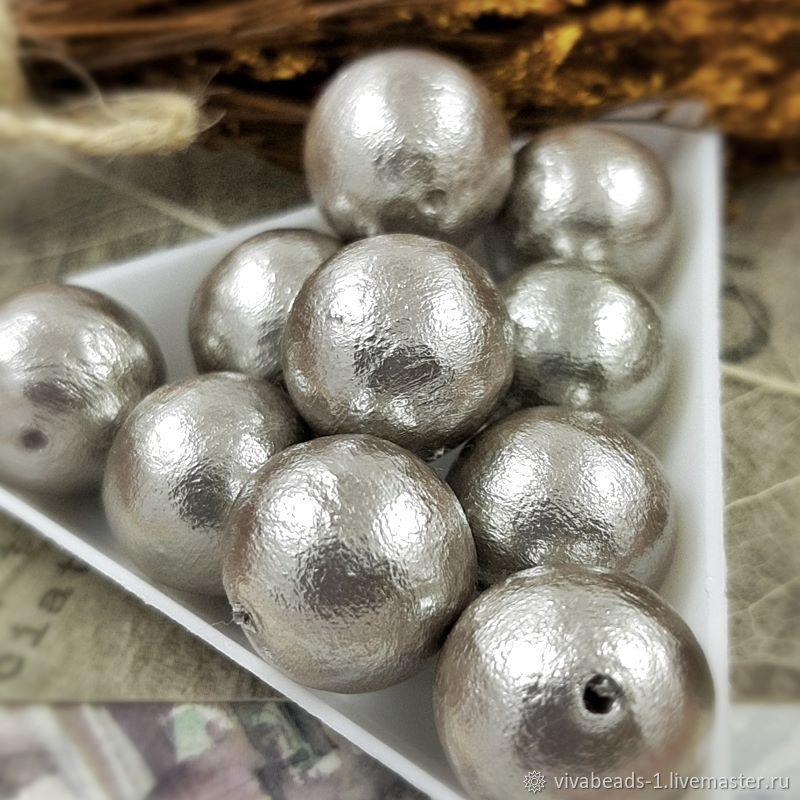 1 PCs. Pearl cotton gray 14mm Japan (3931-14), Beads1, Voronezh,  Фото №1