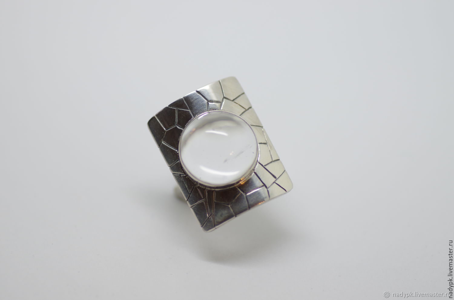 Rock crystal ring, silver, Rings, Moscow,  Фото №1