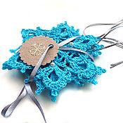 """Украшения ручной работы. Ярмарка Мастеров - ручная работа Снежинки набор (3 штуки) """"Голубая лагуна"""". Handmade."""