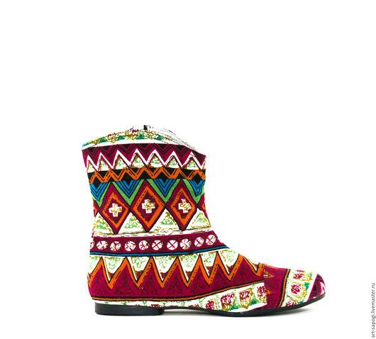 Обувь ручной работы. Ярмарка Мастеров - ручная работа. Купить Летние сапоги 3-115. Handmade. Сапожки ручной работы