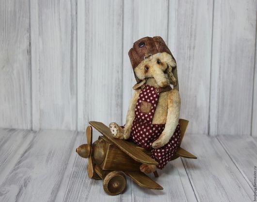 Мишки Тедди ручной работы. Ярмарка Мастеров - ручная работа. Купить Слон-авиатор По. Handmade. Слон, шлем, кожа