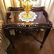 Столы ручной работы. Ярмарка Мастеров - ручная работа Резной столик-подставка. Handmade.