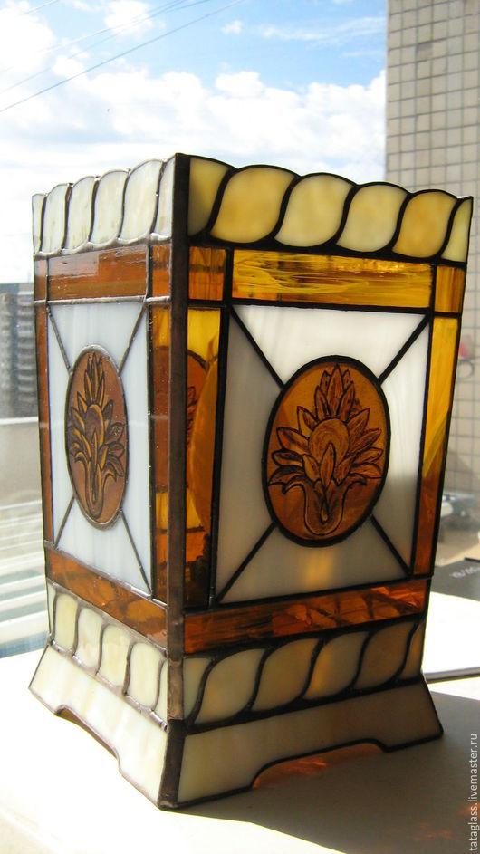 """Освещение ручной работы. Ярмарка Мастеров - ручная работа. Купить Лампа настольная """"Классика"""". Handmade. Лампа, Роспись по стеклу"""