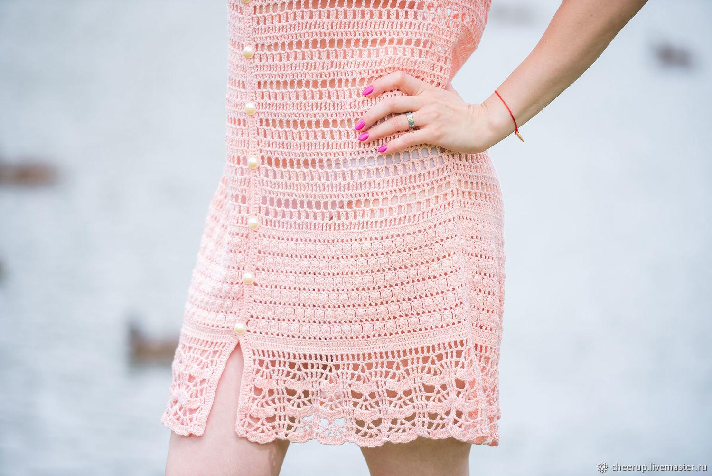 Пляжные платья ручной работы. Ярмарка Мастеров - ручная работа. Купить Вязаное пляжное платье халат. Handmade. Бежевый