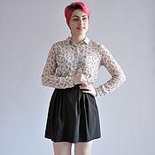 Одежда handmade. Livemaster - original item Striped skirt black lightweight mini. Handmade.