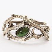 Украшения handmade. Livemaster - original item Ring of twigs with tourmaline. Handmade.