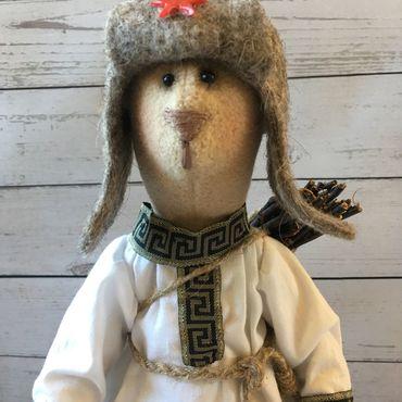 Куклы и игрушки ручной работы. Ярмарка Мастеров - ручная работа Медведь Тильда в русско- народном стиле. Handmade.