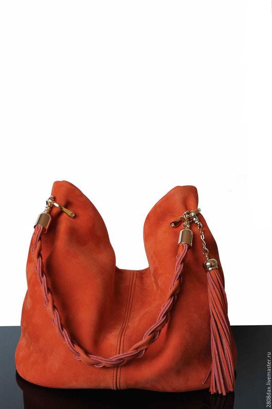 """Женские сумки ручной работы. Ярмарка Мастеров - ручная работа. Купить """"Granville оранжевый"""" оранжевая сумка, замшевая сумка, сумка, осень. Handmade."""