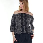 Одежда handmade. Livemaster - original item knitted blouse with open shoulders