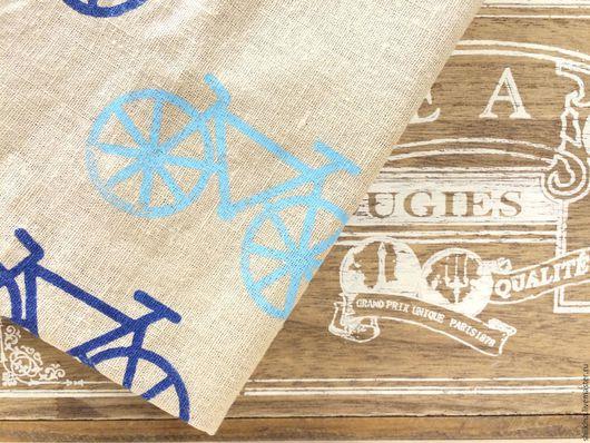 """Текстиль, ковры ручной работы. Ярмарка Мастеров - ручная работа. Купить Салфетка """"Велосипед"""". Handmade. Комбинированный, салфетка, подарок"""