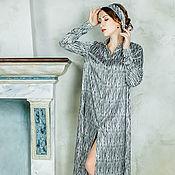 """Одежда ручной работы. Ярмарка Мастеров - ручная работа Платье-рубашка """"Анна"""",повседневное платье,летнее платье,рубашка в пол. Handmade."""