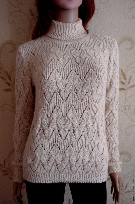 Кофты и свитера ручной работы. Ярмарка Мастеров - ручная работа. Купить пуловер женский свитер. Handmade. Белый, свитер вязаный