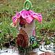 """Освещение ручной работы. Ярмарка Мастеров - ручная работа. Купить Домик """" Весна  у Ледяного озера"""". Handmade. Цветы, светильник"""