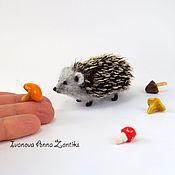 Куклы и игрушки ручной работы. Ярмарка Мастеров - ручная работа Ежик миниатюра. Handmade.