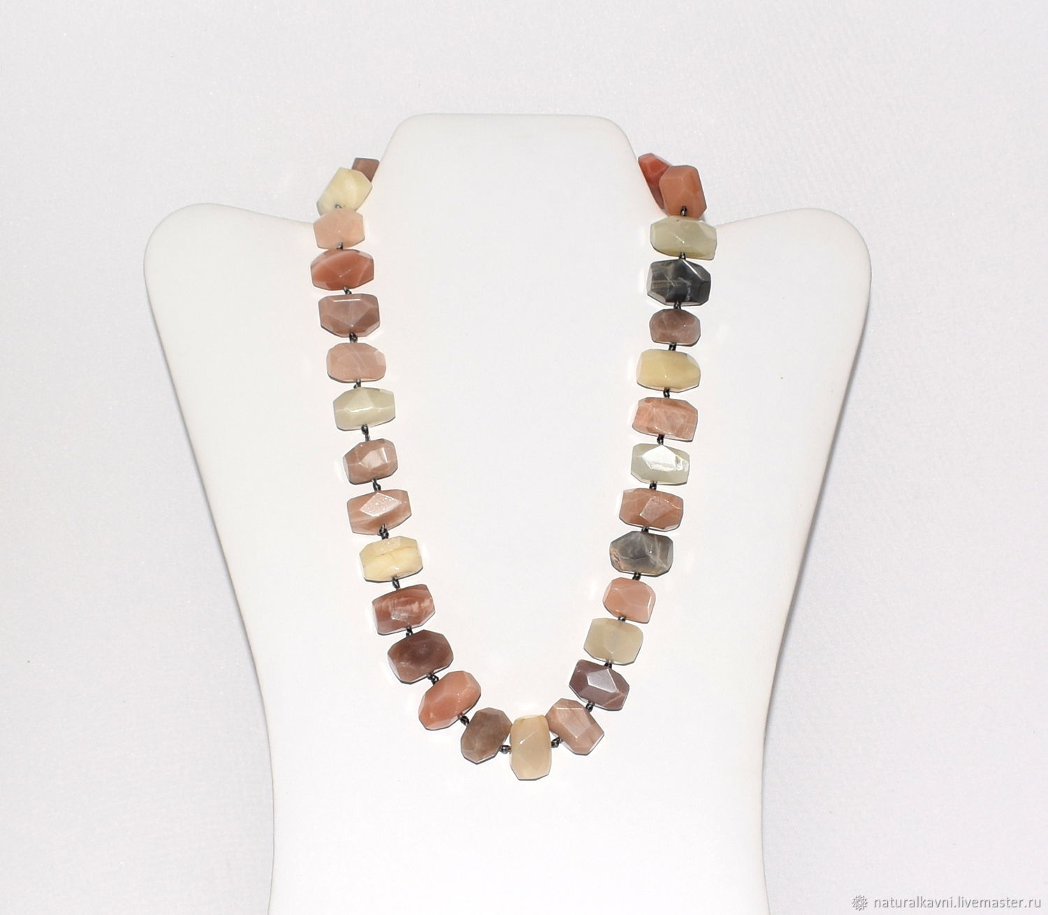 Necklace made of natural Sunstone(oligoclase) (m), Necklace, Moscow,  Фото №1