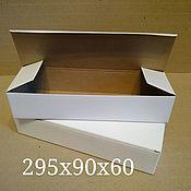 Материалы для творчества ручной работы. Ярмарка Мастеров - ручная работа узкая коробка из гофрокартона. Handmade.