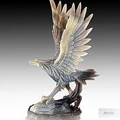Для дома и интерьера handmade. Livemaster - original item The eagle with Outstretched Wings of agate on a Wooden stand AK056. Handmade.