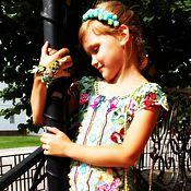 """Работы для детей, ручной работы. Ярмарка Мастеров - ручная работа Детское платье-туника """"Амели"""", авторская работа крючком. Handmade."""