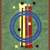 """Картины и панно ручной работы. Ярмарка Мастеров - ручная работа Лоскутное панно """"Экспрессия"""". Handmade."""
