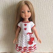 Куклы и игрушки handmade. Livemaster - original item Valentine dress for Paola Reina dolls.. Handmade.
