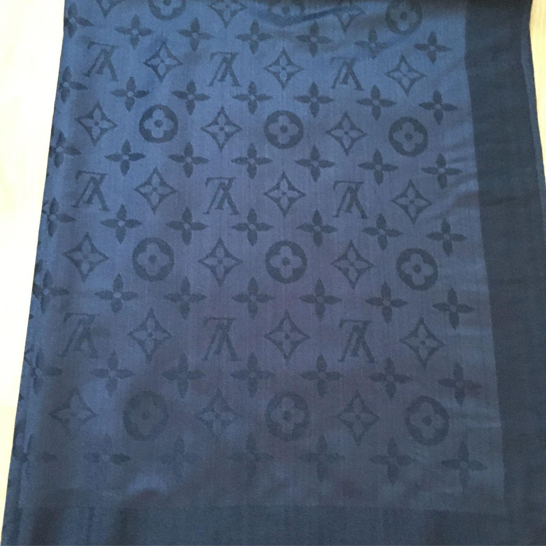 Палантин синий ткань  Louis Vuitton, Палантины, Новосибирск,  Фото №1