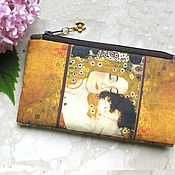 Сумки и аксессуары handmade. Livemaster - original item Cosmetic Bag, Klimt bag, phone bag, bridesmaid clutch, Mother&Child. Handmade.
